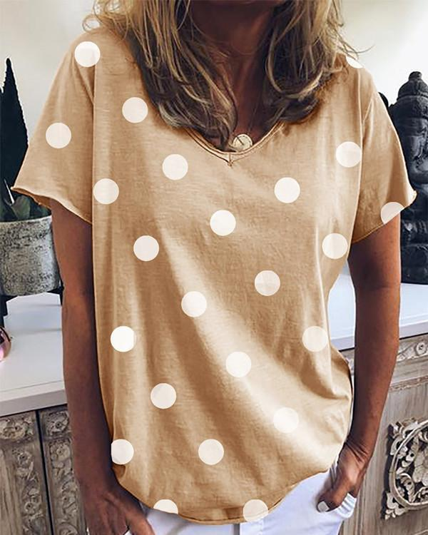 Short Sleeve V Neck Tee Shirts