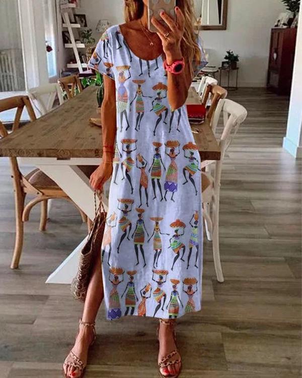 Short Sleeve Casual Dresses