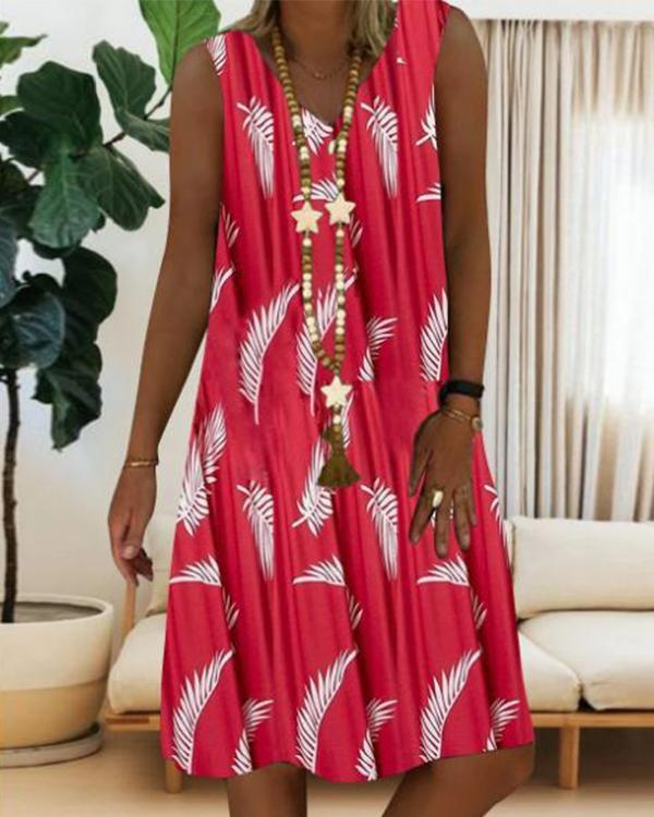 Women's Shift Dress Sleeveless Geometric Summer Casual Elegant Dress