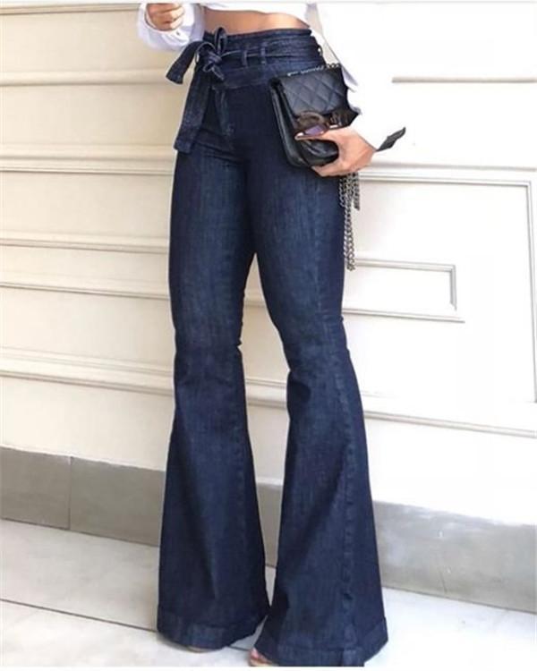 Ultra-Stretch Bootcut Wide Leg Jeans Pants