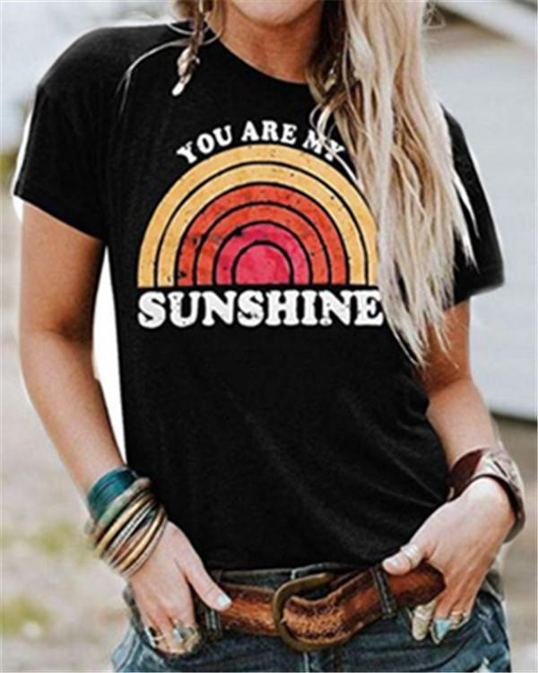 Sunshine Round Neck Casual Summer Women Holiday Blouse