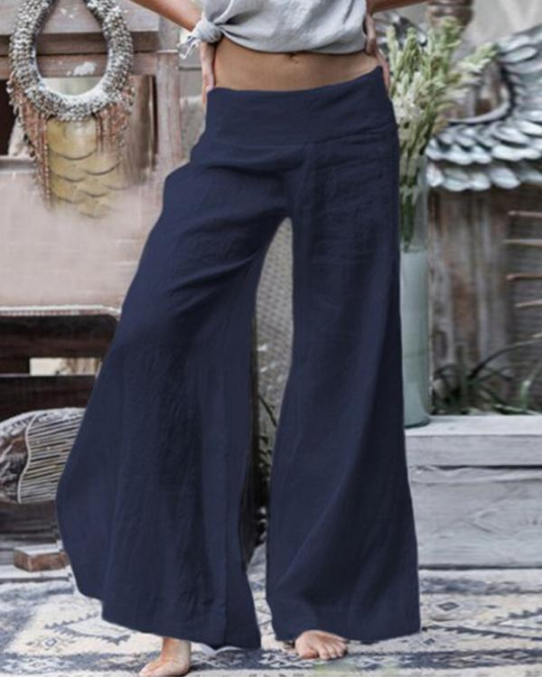 Solid Color Women's Loose Casual Pants