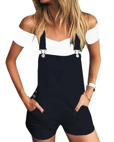 Women's Casual Holiday Shorts Jumpsuit