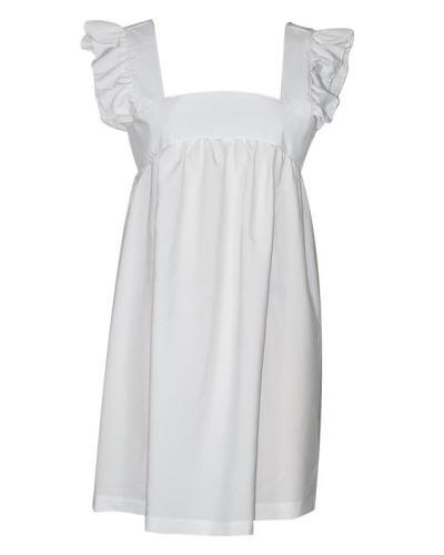 Square Neck Ruffle Sleeve Mini Dress