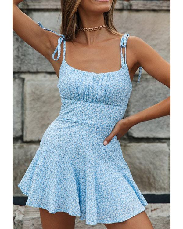 Sling Lace Print Fashion Jumpsuit