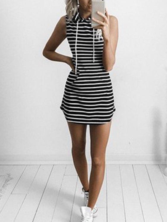 Sleeveless Hoodie Mini Dress