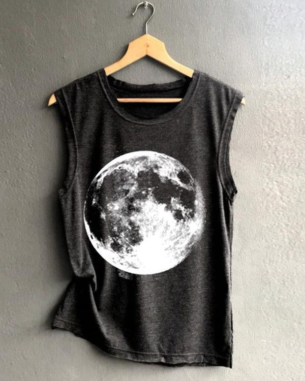 Summer Earth Printed Women Vest Shirt