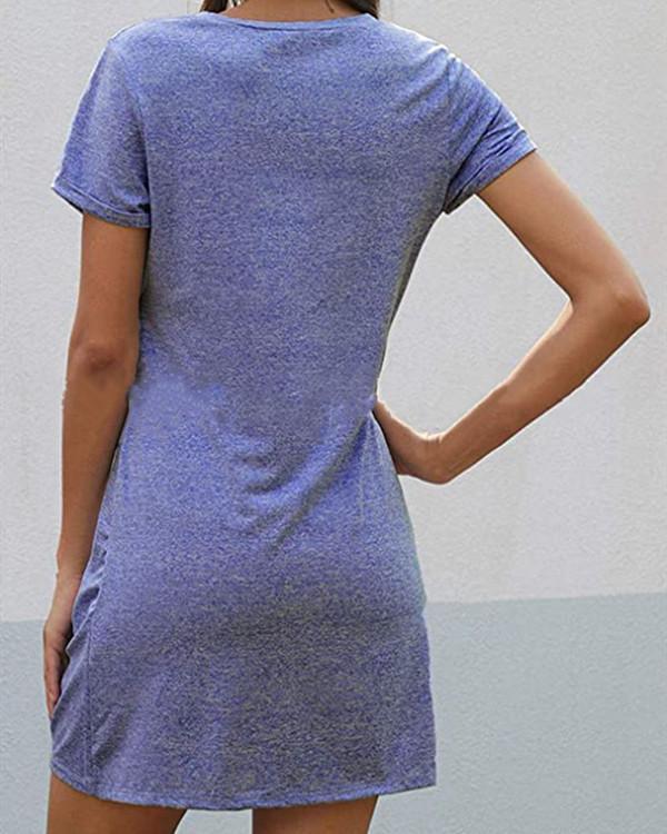 Space Dye Twist Hem Tee Dress