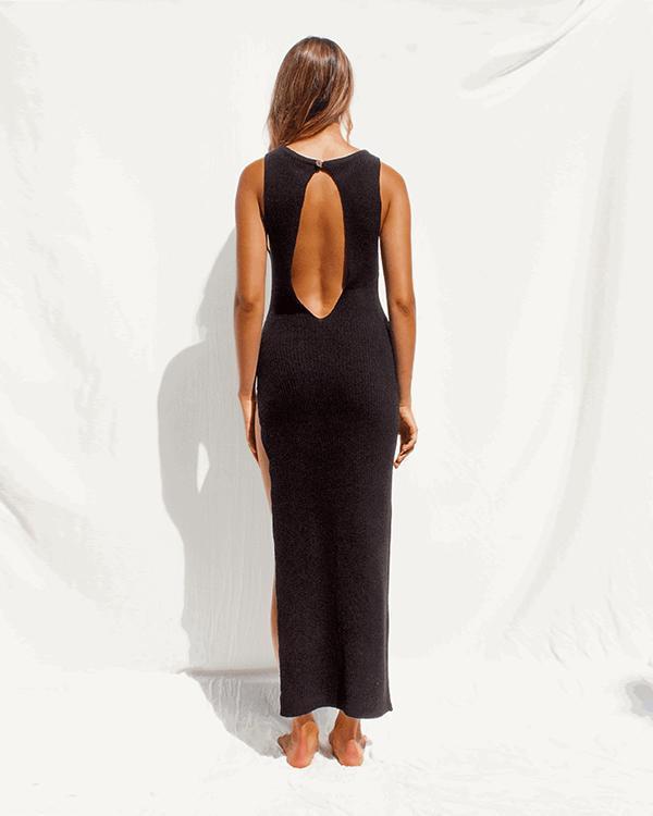 Summer Knit Sexy Hollow Out High Cross Dress