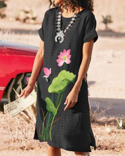Summer Printed Casual Soft Dresses