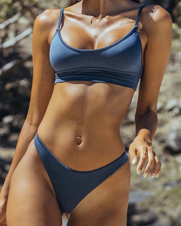 Bandage Bikini Sexy High Waist Sports Swimsuit