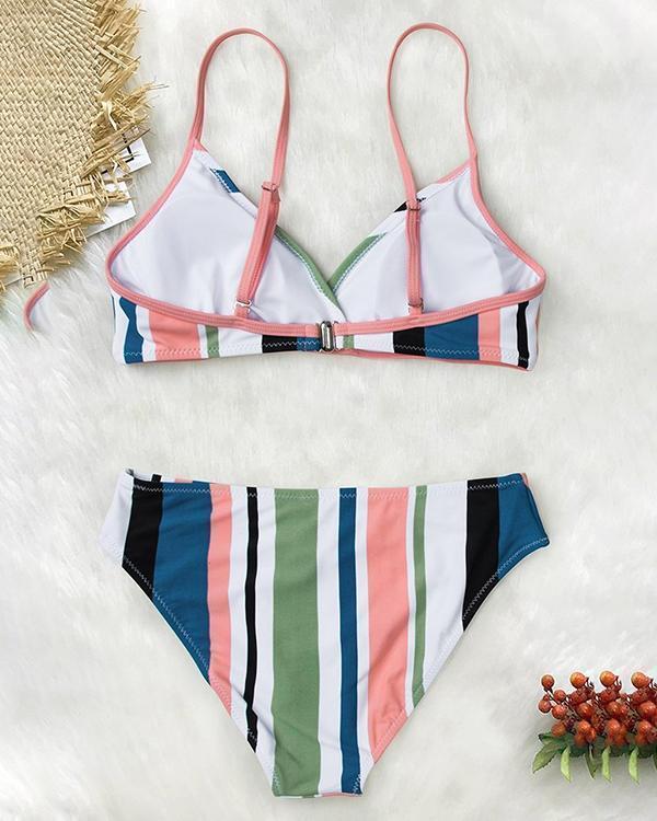 Women's Honey Girl Striped Back Hook Bikini