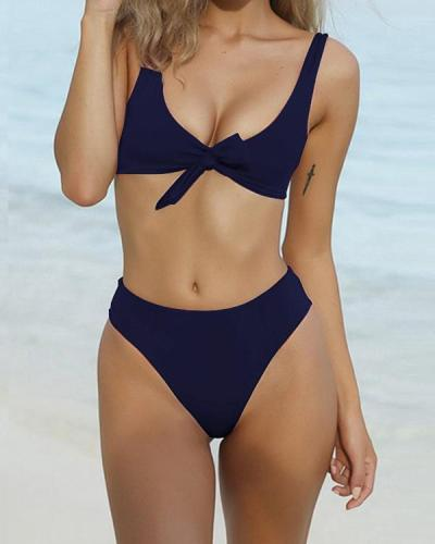Summer Beach Bikini Solid Color Panty Wing Delta