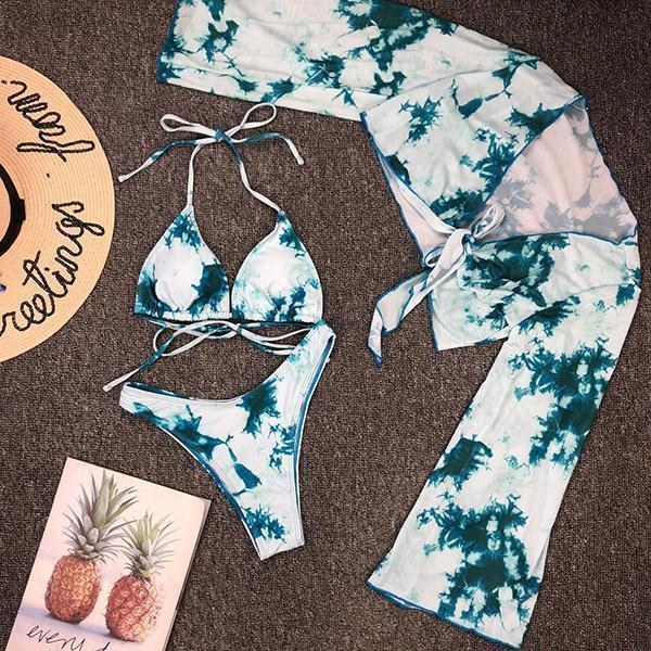 Tie Dye 3Pcs Bikini Set