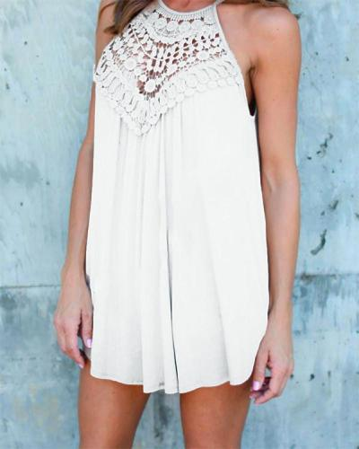 Solid Casual Halter Neckline Sleeveless Blouses