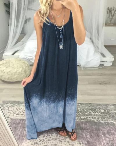 Women Casual Tie Dye Maxi Dress