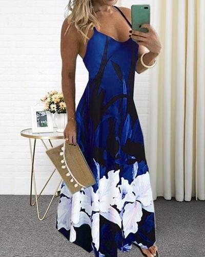 Women's Plus Size Sundress Maxi Printed Dress