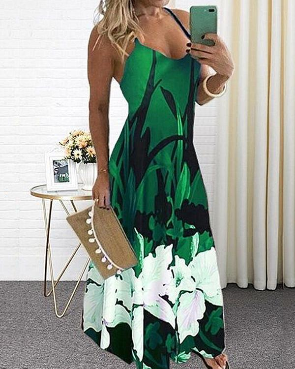 Women's Plus Size Sundress Maxi Printed Dress