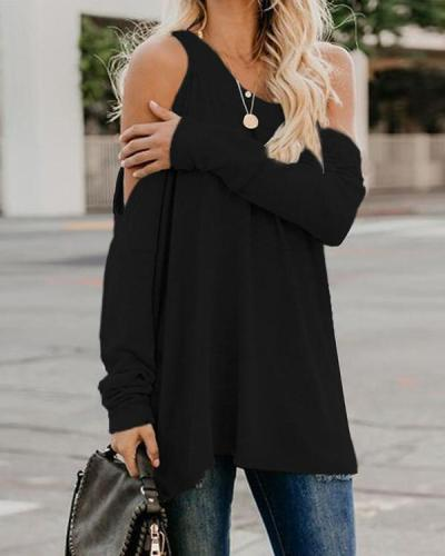 Casual Solid Color Long Sleeve Shirts & Tops