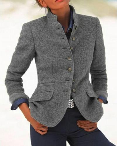Women's Vintage Collar Long Sleeve Jacket