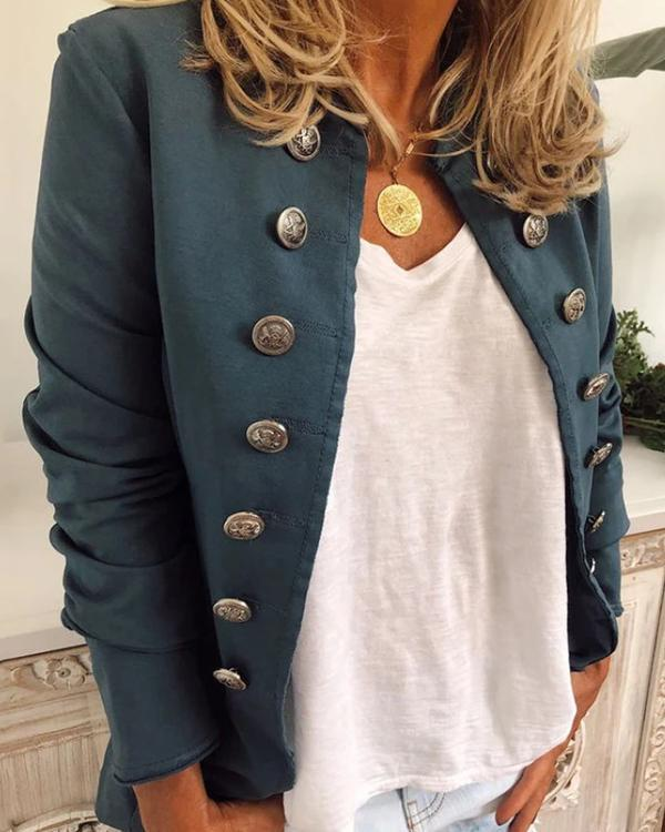 Solid Color Casual Jacket