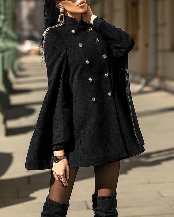 Fringed English cloak coat coat