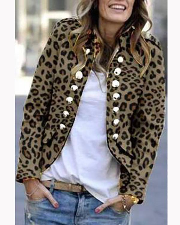 Winter Fashion Pure Color Warm Coat Buttons Outerwear