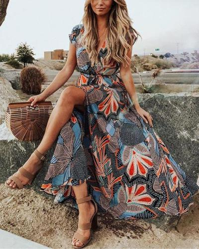 Women's Summer Trendy Vacation Maxi Dress