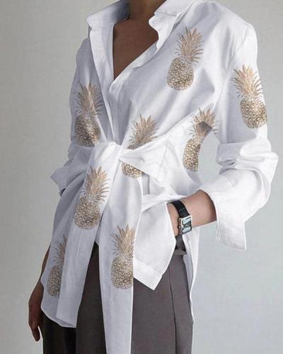 Plus Size Floral Print Casual Shirts Blouses