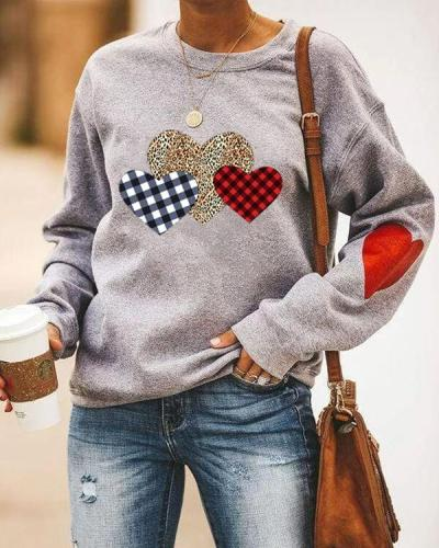 Cotton Love Heart Sweateshirts