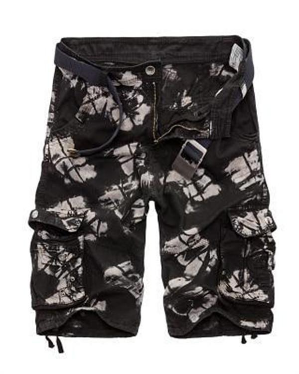 Mens Military Shorts Camouflage Cotton Loose Work Casual Shorts