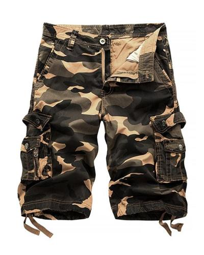 Men's Military Cargo Shorts Summer Camouflage Multi-Pocket Casual Shorts