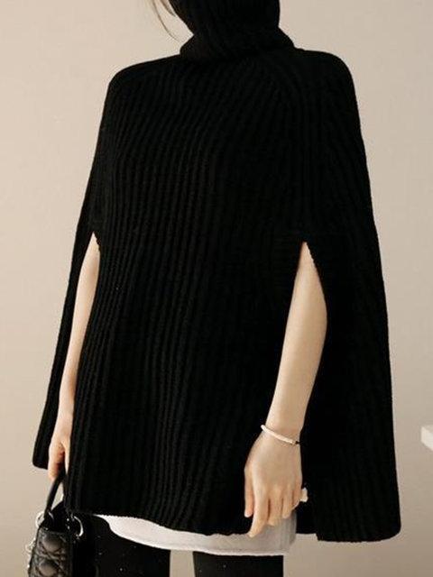 Elegant Faux Fur Patchwork Layered Irregular Women Cloak Coats