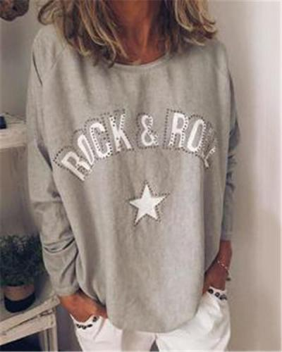 Fall New Long Sleeve Fashion Holiday Casual Lady Daily Shift Tops