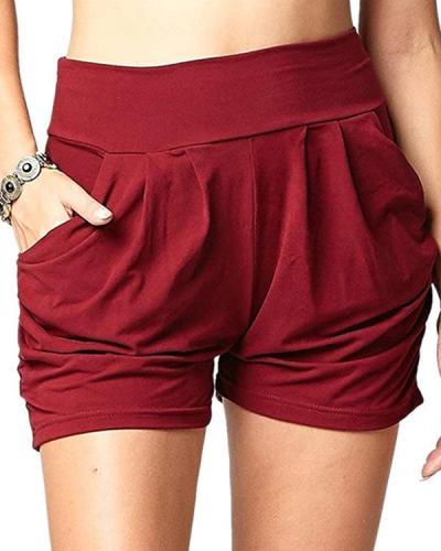 Pleated Comfortable Soft Harem Shorts