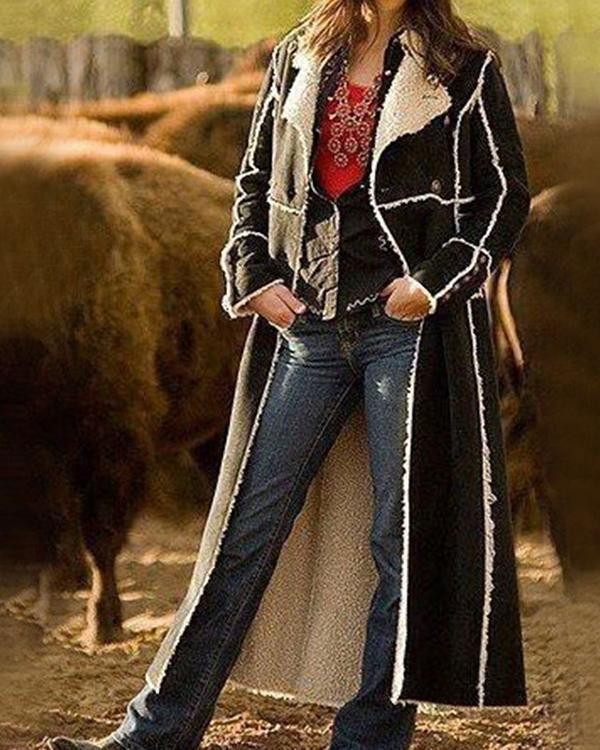 Fall Winter Warm Long Sleeve Outerwear Coat