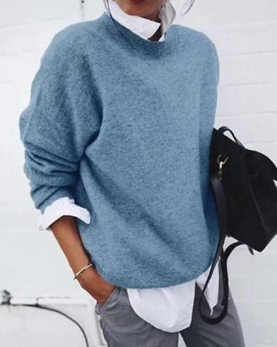 Grey Long Sleeve Casual Shirts & Tops