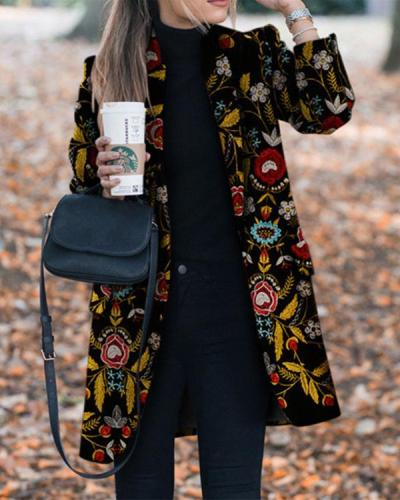 Autumn And Winter Fashion Prints To Trim Warm Jacket