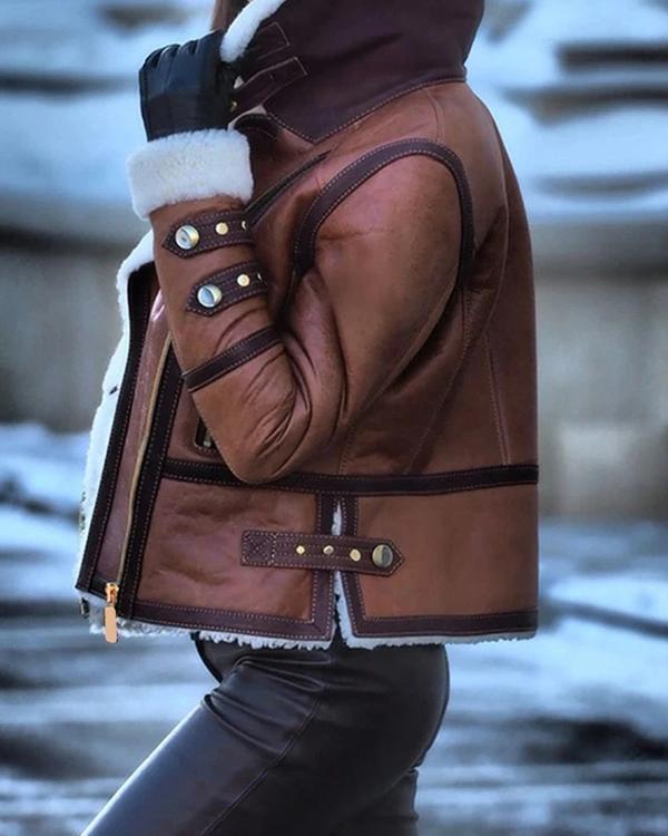 Retro Long Sleeve Lapel Jacket Coat