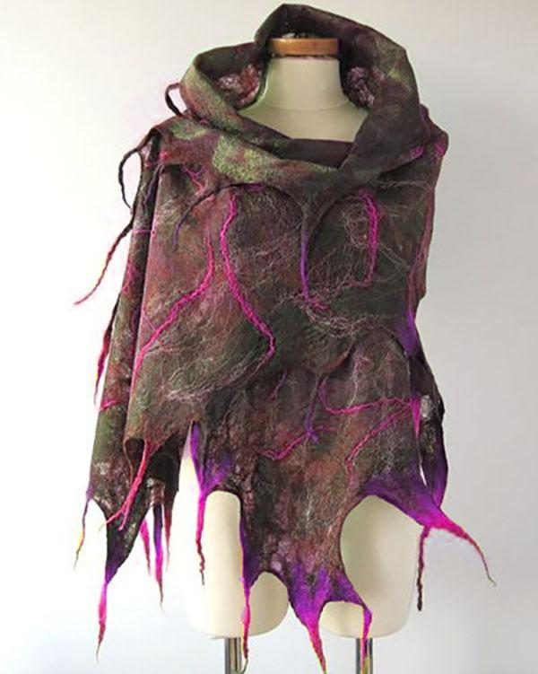 Fashion Polygonal Lightning Printed Scarf