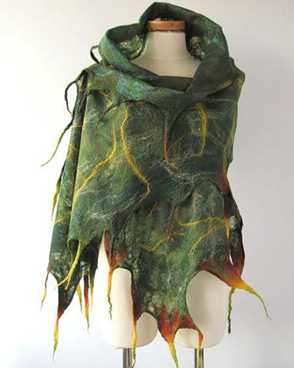 Fashion Polygonal Lightning Printed Scarf