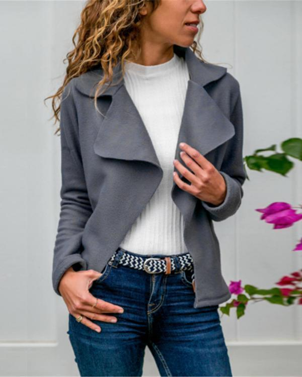 Women's Autumn Solid Color Collar Jacket