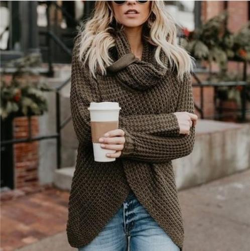 Women Fashion Long Sleeve Kintted Autumn Winter Sweater