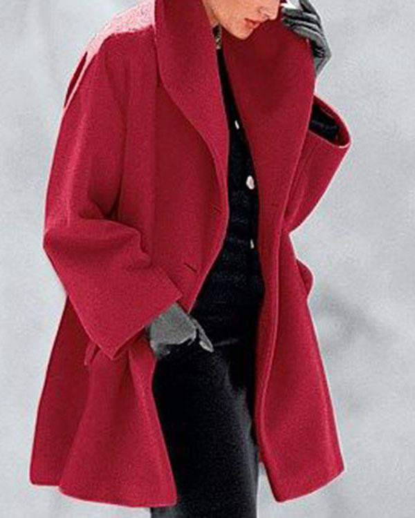 New Warm Fashion Double-faced Fabric Multi-Color Shawl Collar Coat