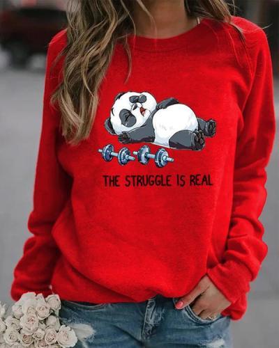 The Struggle Is Real Round Neckline Sweatshirts