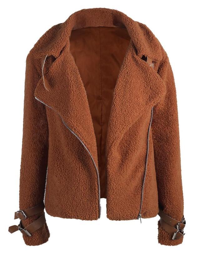 Fall Winter Vintage Biker Jacket Shirt &Tops