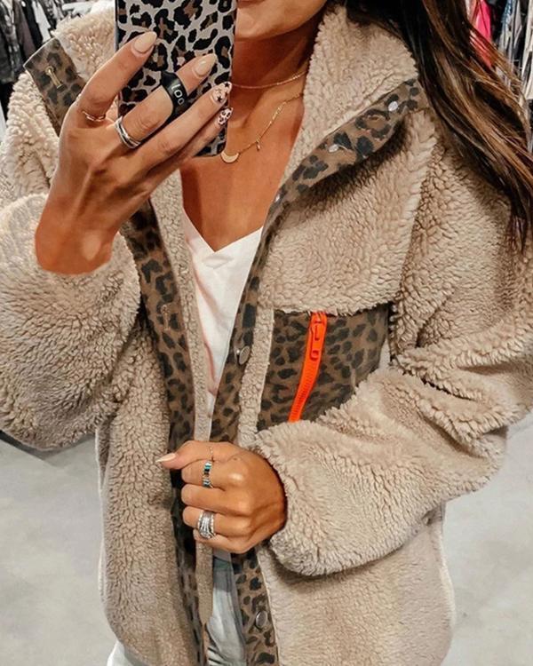 Fashion Wild Warm Leopard Jacket