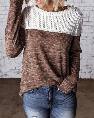 Crew Neck Long Sleeve Casual Sweaters