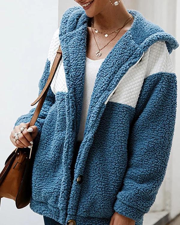 Hooded Long Sleeve Coat For Women