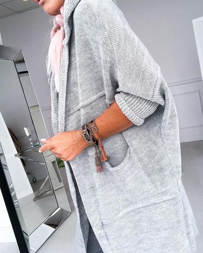 Plus Size Women Hoodie Fall Winter Solid  Fashion Outwear Coat